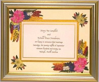 silver and gold wedding invitation picture frame