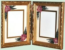 gold double frame 8x10 8000 2 rectangles 5x7
